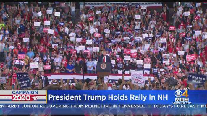President Trump Holds Rally In New Hampshire