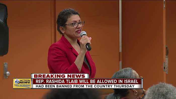Rep. Rashida Tlaib will be allowed in Israel