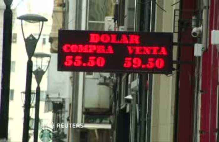 Argentine peso jumps after heavy losses