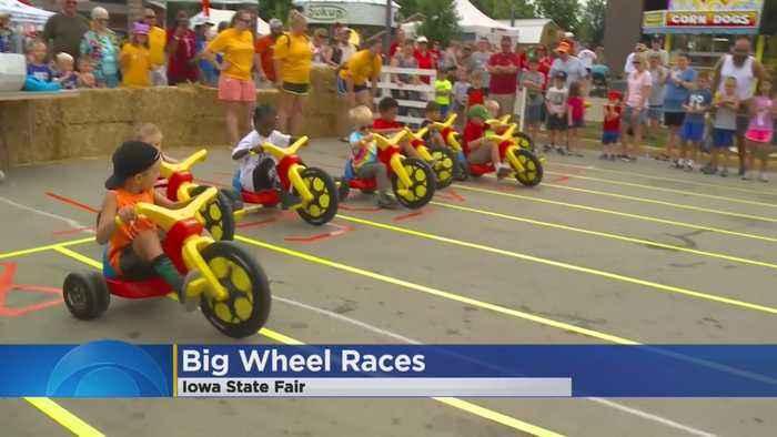Big Wheel Races At Iowa State Fair