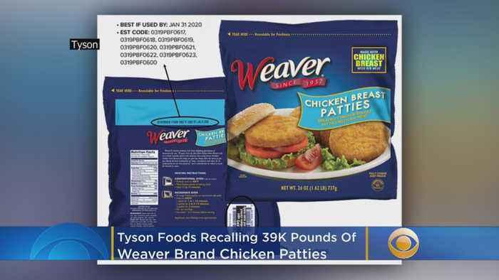 Tyson Foods Recalling 39K Pounds Of Weaver Brand Chicken Patties