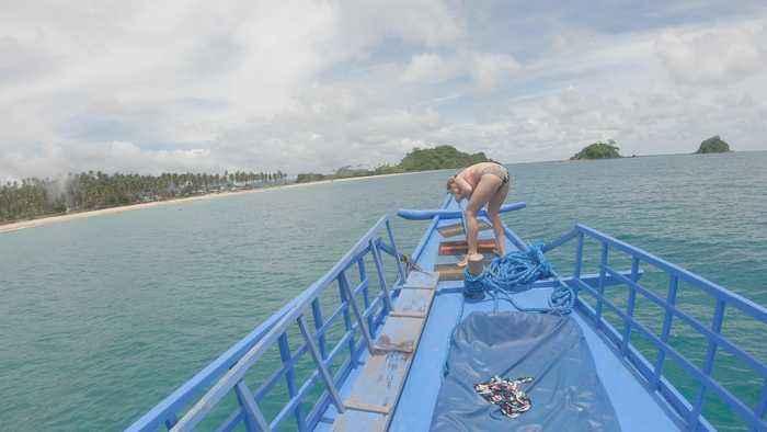 Girls Fails at Backflip Off Boat