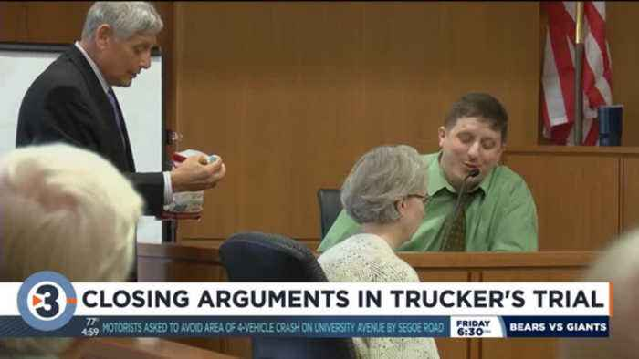 Closing arguments in trucker's trial