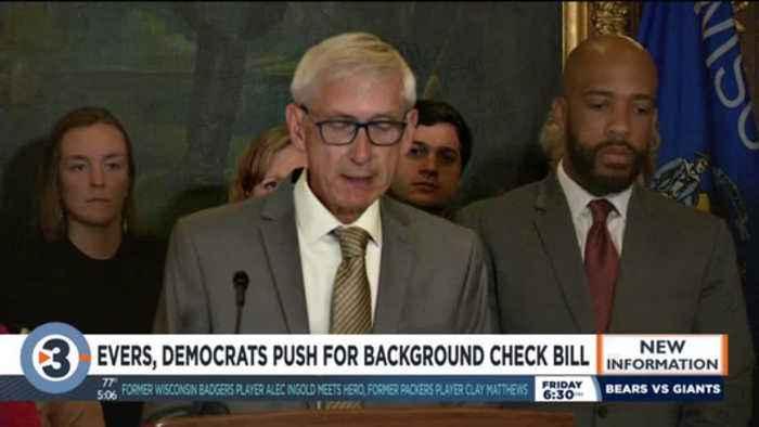 Evers, Democrats offer gun background check bill