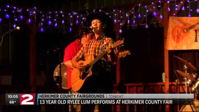 Rylee Lum performs at Herkimer County Fair