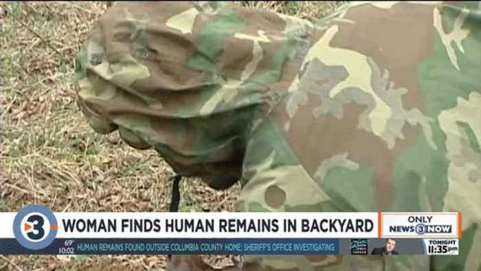 Columbia County woman finds human remains in backyard