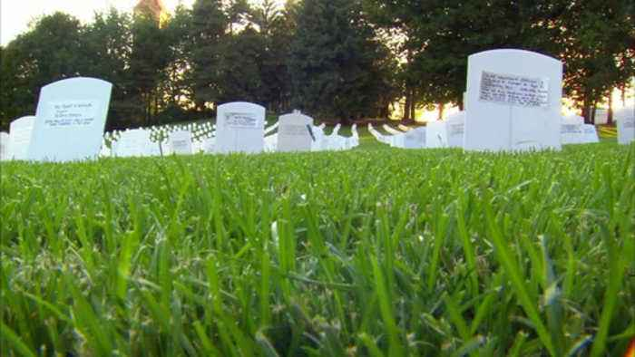 Memorial in Riverfront Park shows true cost of war