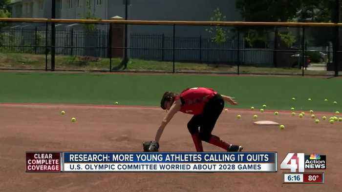 Study shows more young athletes calling it quits, U.S. Olympic Committee concerned