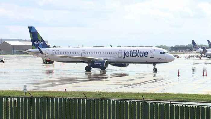 Jet Blue plane makes emergency landing at Cleveland Hopkins International Airport