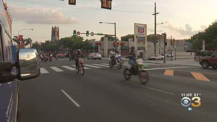 WATCH: Police Make No Stops After Dozens Of People On Dirt Bikes, ATVs Ride Down North Broad Street