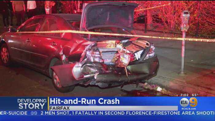 Man Pinned In Hit-And-Run Crash In Fairfax District
