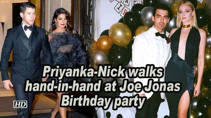 Priyanka-Nick walks hand-in-hand at Joe Jonas Birthday party