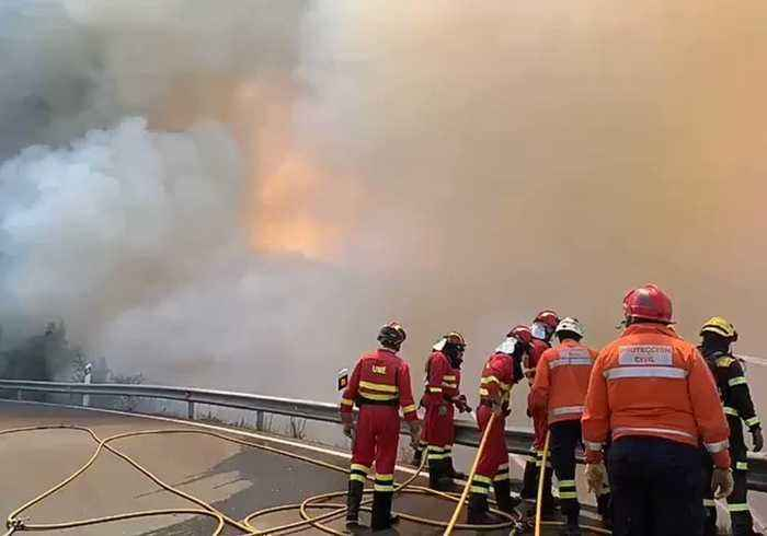 Firefighters Battle Out-of-Control Wildfire in Gran Canaria