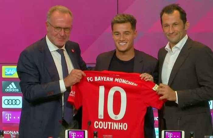 Bayern Munich sign Coutinho on loan from Barcelona