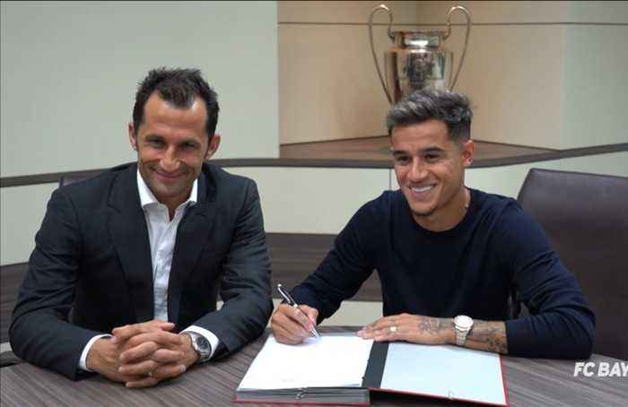 Coutinho signs for Bayern Munich on loan