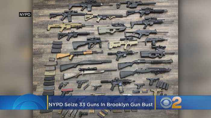 NYPD Gun Bust Seizes Cache Of 33 Firearms In Brooklyn