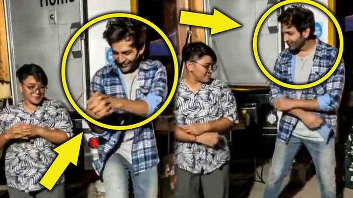 Bhool Bhulaiyaa 2 Star Kartik Aaryan ADORABLE Dance With A Fan On Coca Cola Tu