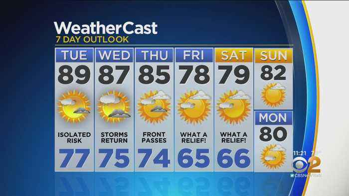 New York Weather: CBS2 8/19 Nightly Forecast at 11PM