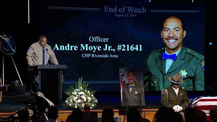Memorial Service Held for California Highway Patrol Officer Killed During Traffic Stop