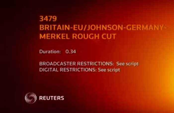 Johnson struggles with Merkel's name