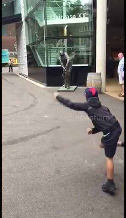 Howzat? Ten-year-old boy bowls out WG Grace's statue at Lord's Cricket Ground