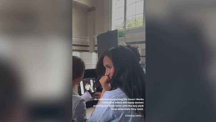 Meghan shares preview of work with women's charity on Instagram
