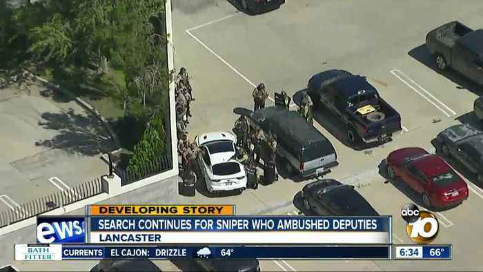 Search on for sniper who opened fire on Lancaster deputies