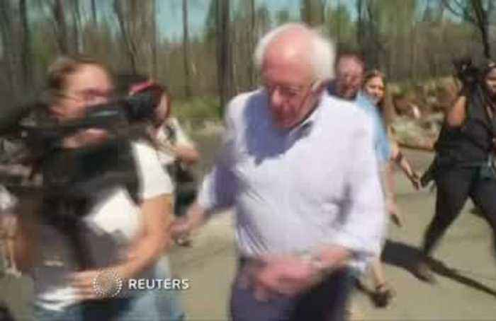 Sanders tours wildfire damage in CA