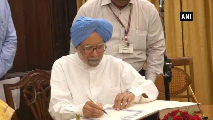Manmohan Singh takes oath as Rajya Sabha member for Rajasthan