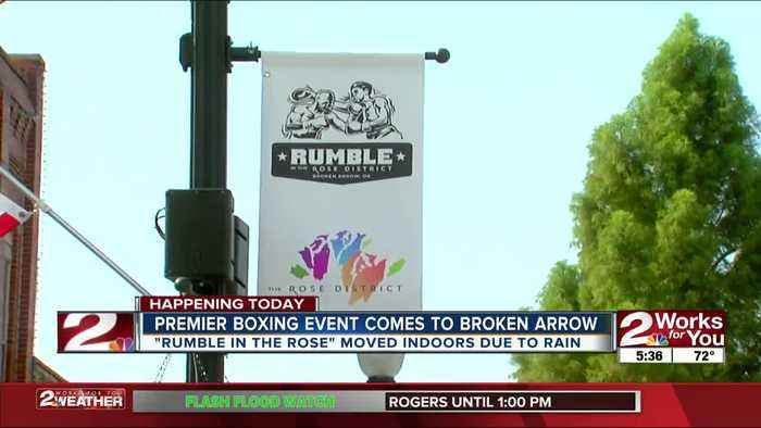 Broken Arrow businesses prepare for large crowds from 'Rumble in the Rose District'boxing event