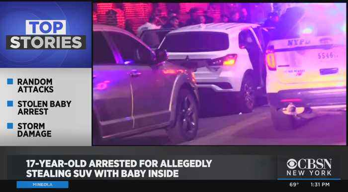 17-Year-Old Arrested For Allegedly Stealing SUV With Baby Inside