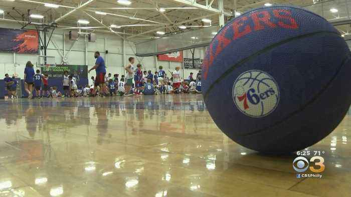 76ers Host Basketball Camp In King Of Prussia