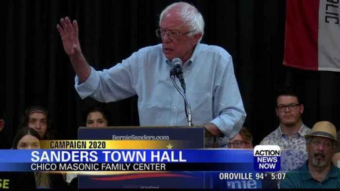 Sen. Bernie Sanders targets climate change, healthcare