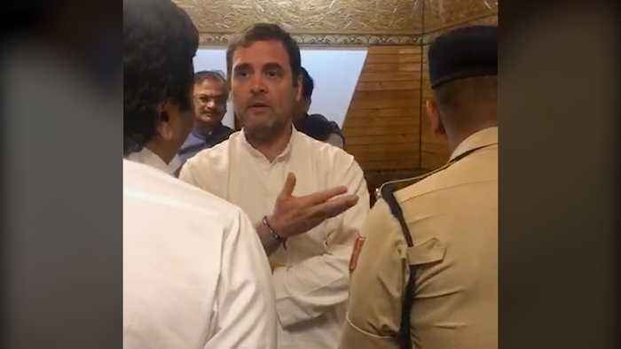 'If all is normal then why not allow us': Rahul Gandhi at Srinagar airport