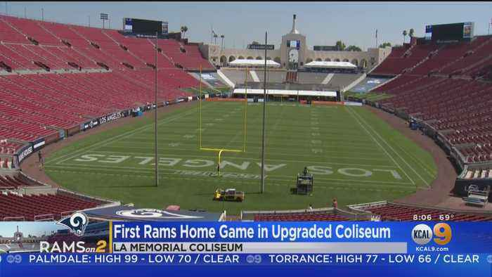 LA Rams Play First Home Game In Newly Renovated Coliseum