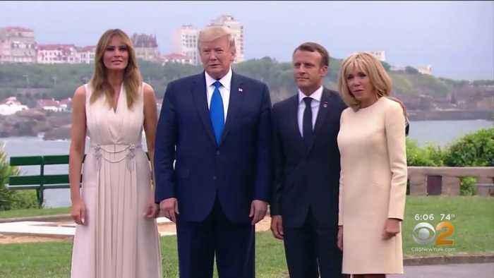 President Trump Arrives At G-7 Summit