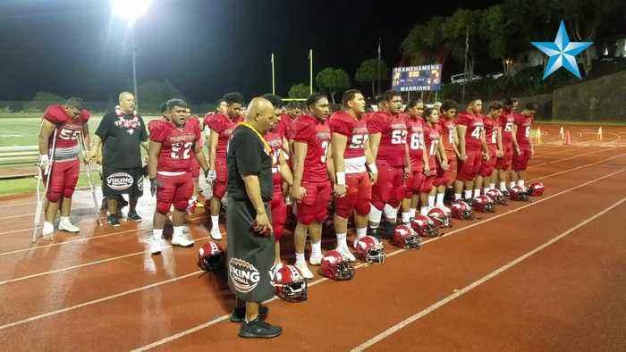 Fagaitua High School sings to Hawaii fans after loss to Fagaitua High School