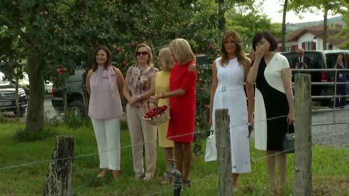 Melania Trump and G7 first ladies go sightseeing