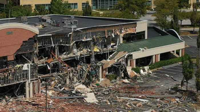 'The building is probably totaled': Columbia gas explosion destroys shopping center