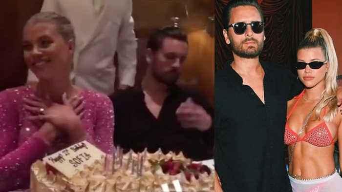 Scott Disick Looks MISERABLE During Sofia Richie's HUGE 21st Birthday Vegas Bash!