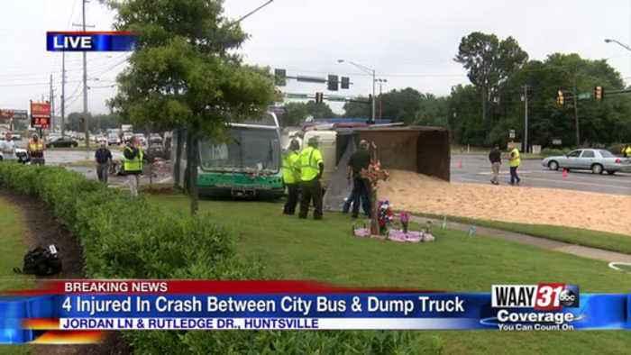 Multiple people injured in Huntsville bus, dump truck wreck