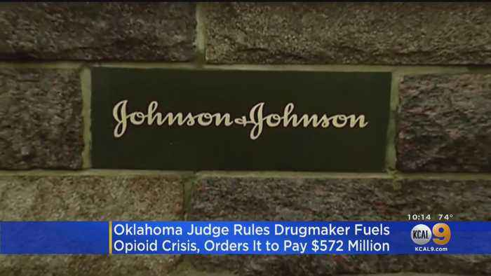 Judge Orders Johnson & Johnson To Pay Oklahoma $572 Million For Fueling State's Opioid Crisis