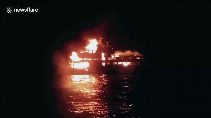 One-year-old girl dead in Filipino ferry fire