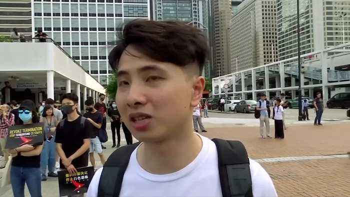 HK protesters denounce Cathay for firing workers