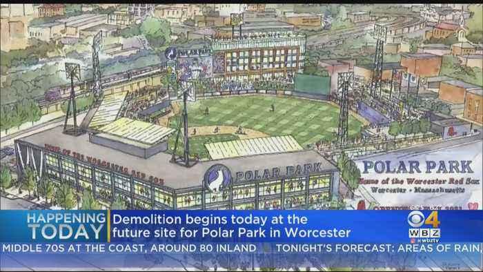 Demolition Begins At Future Site For Polar Park In Worcester