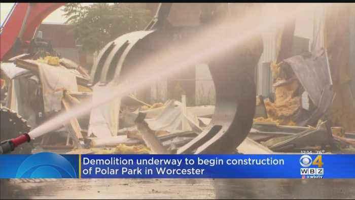 Demolition Underway To Begin Construction Of Polar Park In Worcester