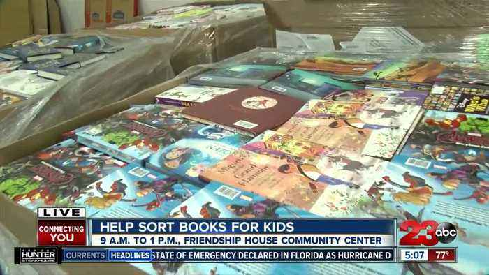 Help sort and box books for thousands of local children in low-income communities