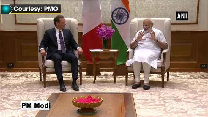 PM Modi meets French President's advisor Emmanuel Bonne