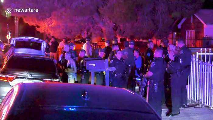 Shooting at California pool party leaves vehicle riddled with bullet holes