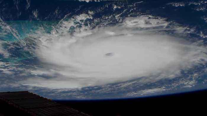 Hurricane Dorian from space as it reaches the Bahamas